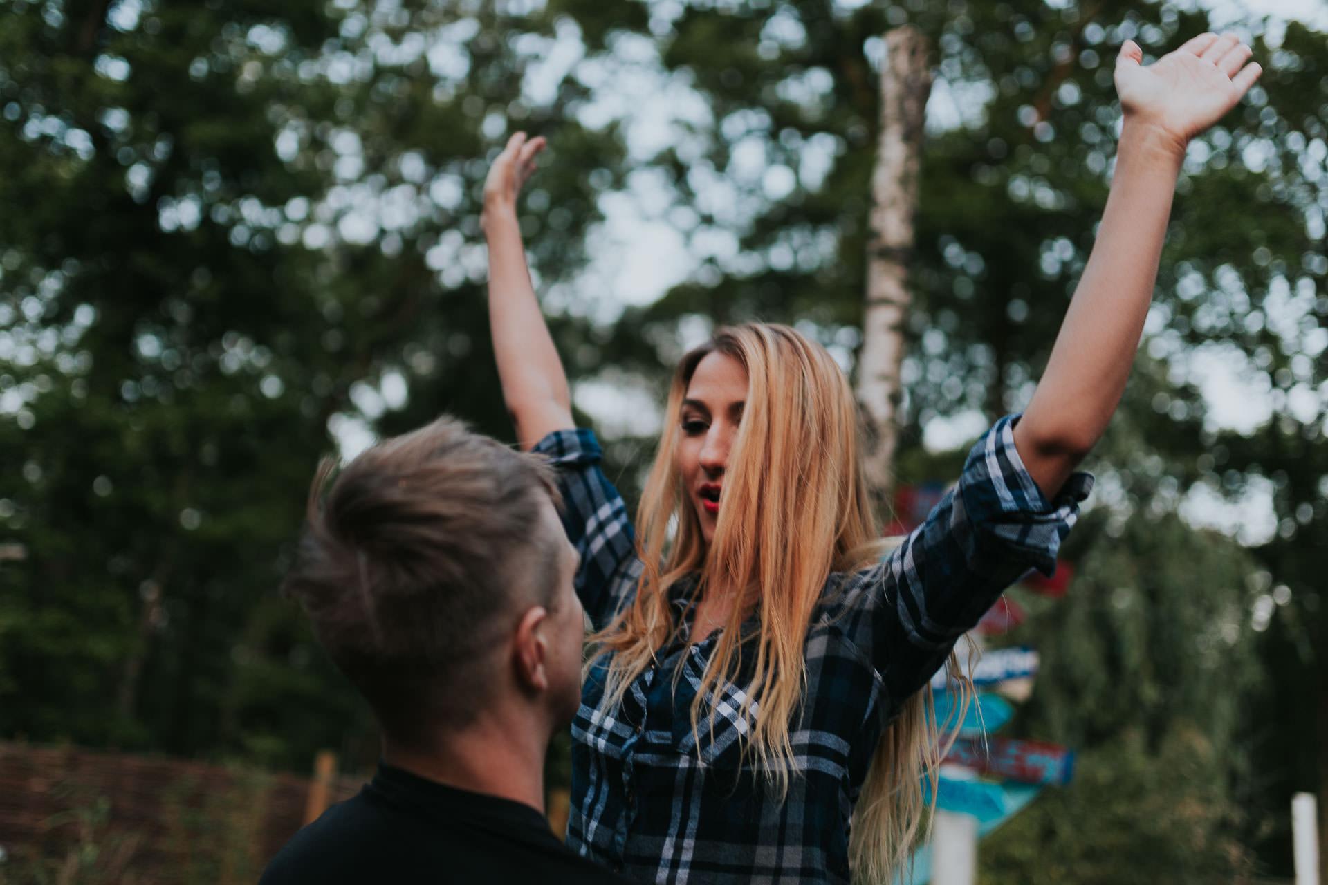 Arleta Pawel Engagement Photoshoot TreeRunners Andover 63