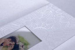 White Lady ewhite acrylic cover wedding photo album luxury handcrafted printing lab hardcover uai