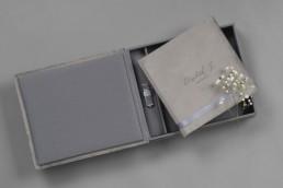 Complete Set velvet textile cover lay flat photo album box and usb stick print and digital package nphoto uai